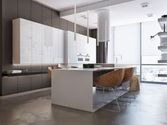 Neutral color themes are beloved for being straightforward and quite approachable. Neutrals are easy to coordinate, simple to adapt, and they pair with a nearly Modern Kitchen Design, Interior Design Kitchen, Kitchen Dinning, Kitchen Decor, Cuisines Design, Küchen Design, Home Kitchens, Kitchen Remodel, Color Themes