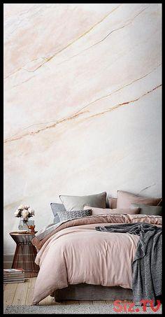Blush pink bedroom ideas dusty rose bedroom decor and bedding i love 00033 Blush Pink Bedroom, Rose Bedroom, Pink Bedrooms, Modern Bedrooms, Dream Bedroom, Wallpaper Design For Bedroom, Bedroom Wallpaper Accent Wall, Bathroom Wallpaper, Accent Walls