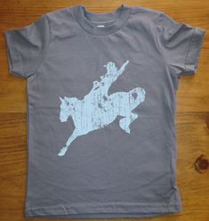 Horse Shirt Rodeo Kids T Shirt - 8 Colors Available - Tshirt Sizes 2T, 4T, 6, 8, 10, 12 - Gift Friendly
