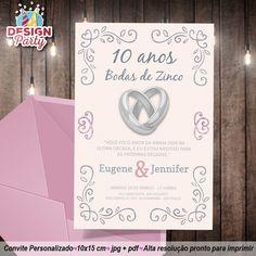 Convite Bodas de Zinco - 10 anos