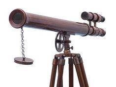 Floor Standing Antique Copper Griffith Astro Telescope