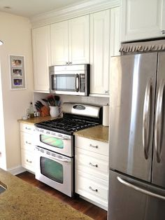 Remodelaholic | Creating an Open Kitchen and a Winner. Double oven. Heats up faster and uses less gas