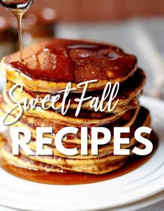 Sweet Fall Recipes to whip up to treat yourself or family. Give one or more of these easy fall recipes a try. Sweet desserts, breakfast ideas, and so much more, all in one spot. #sweet #fall #recipes #breakfast #dessert Breakfast Dessert, Breakfast Ideas, Other Recipes, Whole Food Recipes, Cafe Delites, Yummy Food, Tasty, Quick And Easy Breakfast, Easy Food To Make