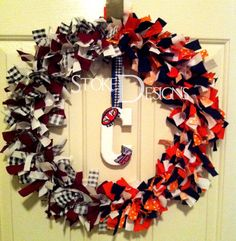 New House Divided wreath with Baylor and Tech instead...