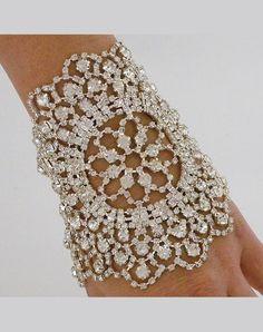 Jeweled Nouveau Bouquet Cuff