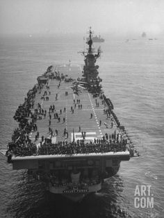 USS Aircraft Carrier Valley Forge on Amphibious Exercises Premium Photographic Print