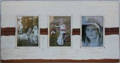 "5x7"" 3 Pictures white frame"