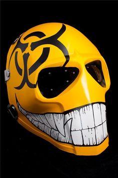ONIMARU Mask Army of Two Paintball Airsoft Comic Halloween Helmet Bio Hazard for sale online Army Of Two, Creepy Masks, Cool Masks, Awesome Masks, Custom Motorcycle Helmets, Custom Helmets, Gas Mask Art, Masks Art, Helmet Design