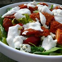 Hot 'n' Spicy Buffalo Chicken Salad Allrecipes.com