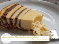 glutenfreier Käsekuchen ohne Boden mit Apfelmus. Durch die geringe Zugabe von Zucker ist diese glutenfreie Käsekuchen auch für Babys und Kleinkinder gut geeignet.  http://zauberhaftekruemel.blogspot.co.at/2016/04/rezepte-glutenfreier-kasekuchen-ohne.html