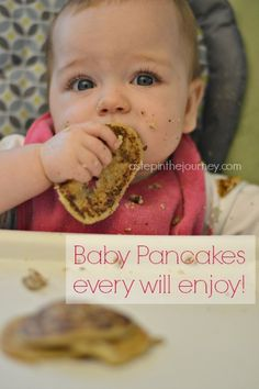 Baby Pancake Recipe & thoughts on Baby Led Weaning