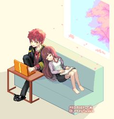 Mystic messenger uploaded by Şħouŧo on We Heart It Mystic Messenger Characters, Mystic Messenger Fanart, Anime Couples, Cute Couples, Seven Mystic Messenger, Luciel Choi, Messenger Games, Saeran Choi, Another Anime