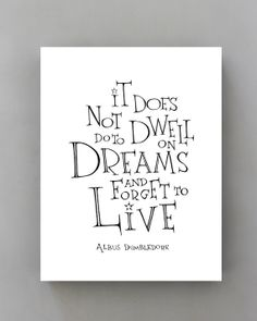 Dumbledore quote  Harry Potter poster It does not by SimpleSerene, $14.00