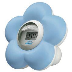 Et digitalt termometer som registrerer både rom- og vanntemperatur. 199,-