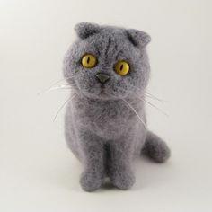 Needle felted cat by KaysK9