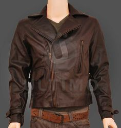 Captain America (Chris Evans): Motorcycle Leather Jacket