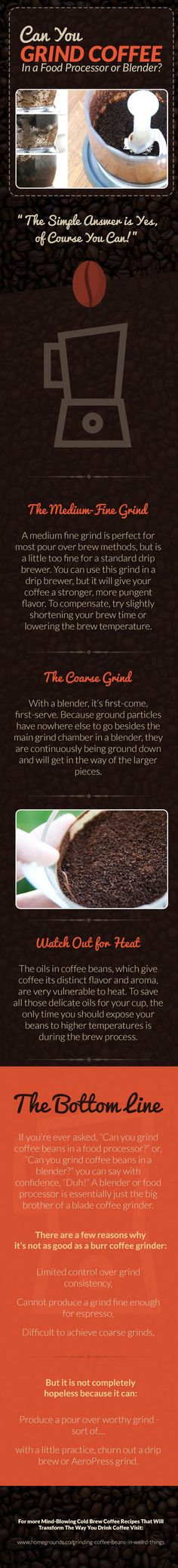 Can You Grind Coffee Beans in a Food Processor or Blender?