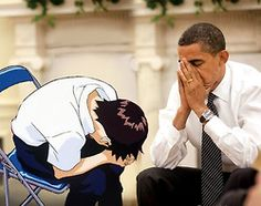 Obama, on behalf of the youth, thanks the great nation of Japan for the gift of anime - Page 9 - NeoGAF Cute Memes, Dankest Memes, Funny Memes, Devilman Crybaby, Otaku Meme, Baguio, Anime Demon, Neon Genesis Evangelion, Reaction Pictures