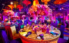 With summer here, and wedding season in full swing we are bringing you some summer wedding inspiration. If you are planning a summer wedding, bright and bold. Indian Wedding Centerpieces, Reception Decorations, Event Decor, Gold Centerpieces, Desi Wedding, Wedding Events, Wedding Day, Wedding Ceremony, Wedding Mandap