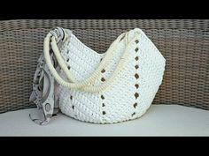 Bolsa De Crochê Com Fio de Malha - Bolsa de Praia - Tutorial de Crochê - Crochet Beach Bag Tutorial - YouTube