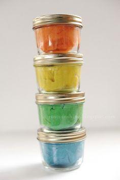 Rust & Sunshine: DIY Glitter Play Dough