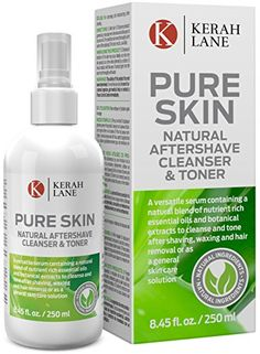 Kerah Lane Pure Skin - Natural Toner & Cleanser for Treatment of Ingrown Hairs, Acne & Razor Bumps. Use After Shaving, Waxing & Hair Removal or as a General Skin Care Solution for Women & Men Ingrown Hair Removal, Wax Hair Removal, Ingrown Hairs, Natural Toner, Natural Skin, Hair Lotion, Essential Oils For Skin, Cleanser And Toner, After Shave