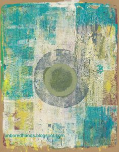 Gelli circles and rectangles - Randomness from Unbored Hands