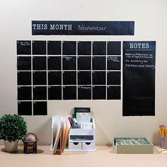 Self-Adhesive Chalkboard Dry Erase Calendar - OrientalTrading.com