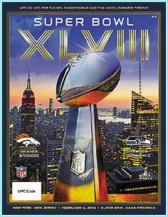 SUPER BOWL 48 OFFICIAL GAME PROGRAM Holographic NEW XLVIII 2014 New York Jersey