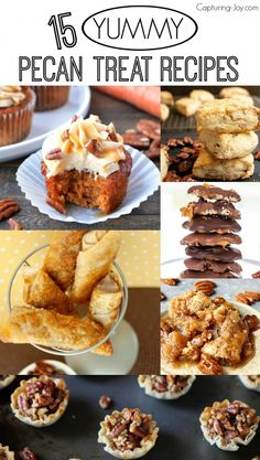 15 Yummy Pecan Treat Recipes, perfect fall ideas
