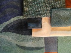 Living room area rug with sofa and pillow fabrics