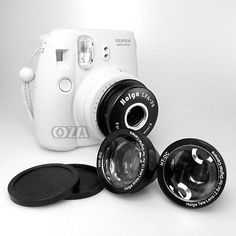 Holga WTL-F8 Wide & Tele Lens Adapter for Fujifilm Instax Mini 8 Instant Camera