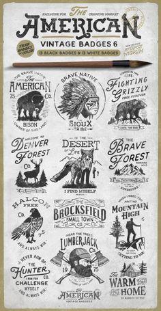 American Vintage Badges 6 by Opus NIgrum