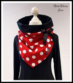 """Driehoekige doeken - Collar scarf """"cloth"""" Black Cherrys Store - Een uniek product van b-c-design-factory op DaWanda"""