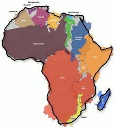 The true size of Africa -- and how the version of the world map we typically use distorts the reality of relative size of countries and continents.