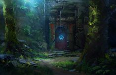 ArtStation - Ancient Gate, Cosmin Hrincu