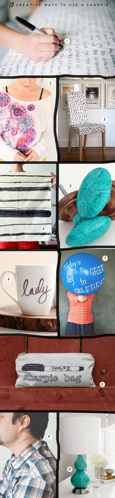 10 creative ways to use a sharpie