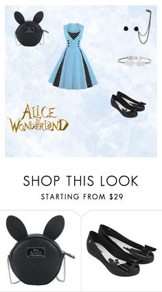 """""""Alice in Wonderland"""" by ariannyspeque ❤ liked on Polyvore featuring Disney and Melissa"""