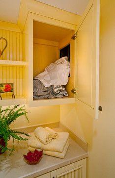 Lake Home - traditional - Laundry Room - Portland - L.EvansDesignGroup,inc Lake Home – traditional – Laundry Room – Portland – L.EvansDesignGroup,inc Laundry Room Shelves, Basement Laundry, Laundry Room Design, Laundry In Bathroom, Laundry Closet, Basement Bathroom, Laundry Shoot, Laundry Chute, Laundry Drying