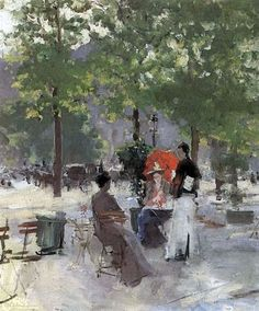 Описание картины Константина Коровина «Парижское кафе»