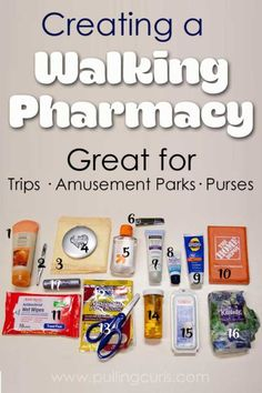 A walking pharmacy will make you feel prepared for whatever the day brings.
