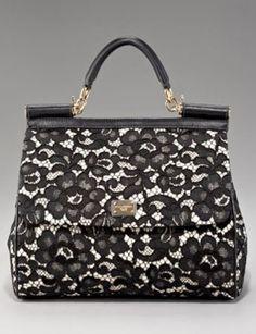 dolce gabbana miss sicily lace handbag-Dolce&Gabbana cartera de encaje…