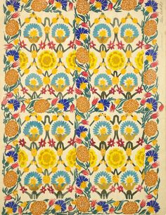 Textile print design by Leon Bakst, produced in 1922.