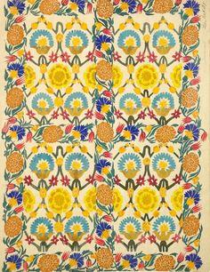 Leon Bakst. Textile design, ca.1922