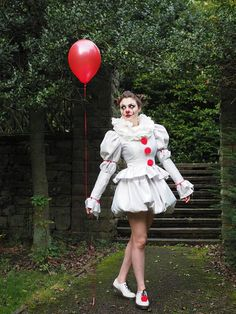 Pennywise Costume Dress, IT 2017 clown costume, cosplay