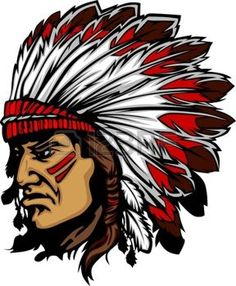 Illustration about Graphic Native American Indian Chief Mascot with Headdress. Illustration of mascot, chiefs, face - 22153721 Red Indian, Indian Head, Native Indian, Native American Indians, Indian Art, Indian Skull, Chiefs Mascot, Native American Drawing, Silhouette Images
