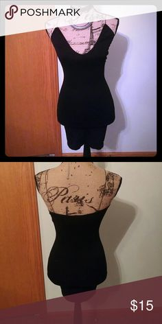 Intimately Free People Black Dress/Slip Bran NEW only tried on once! Black stretchy under garment, dress... Can be worn underneath a see thru item, or if your looking for a tight little black dress, can be worn solo. The size says XS/S Free People Intimates & Sleepwear Chemises & Slips