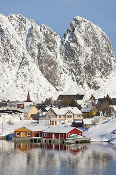 Cabins In Raine, Lofoten Islands, Norway