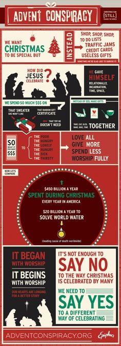 Advent Conspiracy 2012: worship fully, spend less, give more, love all