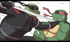 Dark Leo loves so much Raph because he must kill him